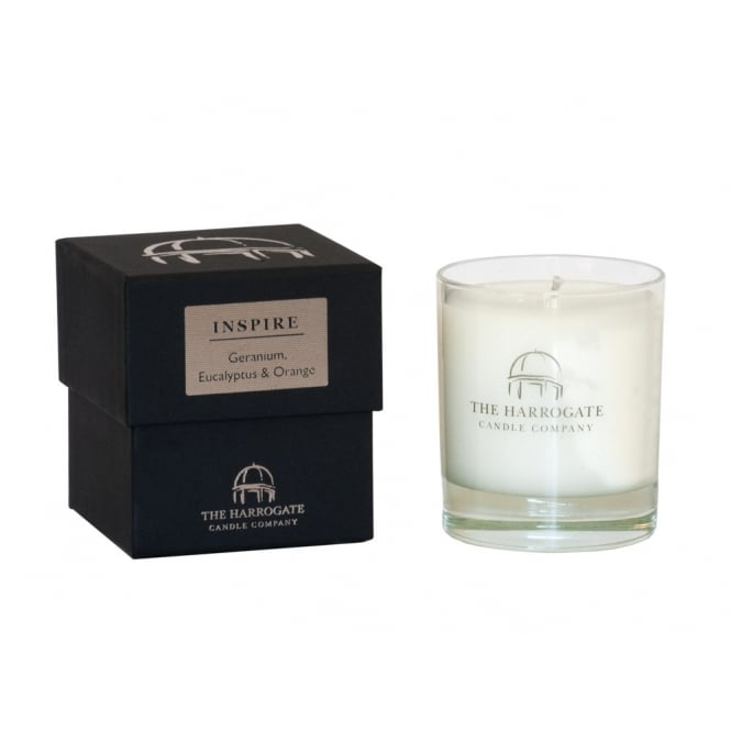 THE HARROGATE CANDLE COMPANY 30cl Candle INSPIRE Geranium Eucalyptus & Orange