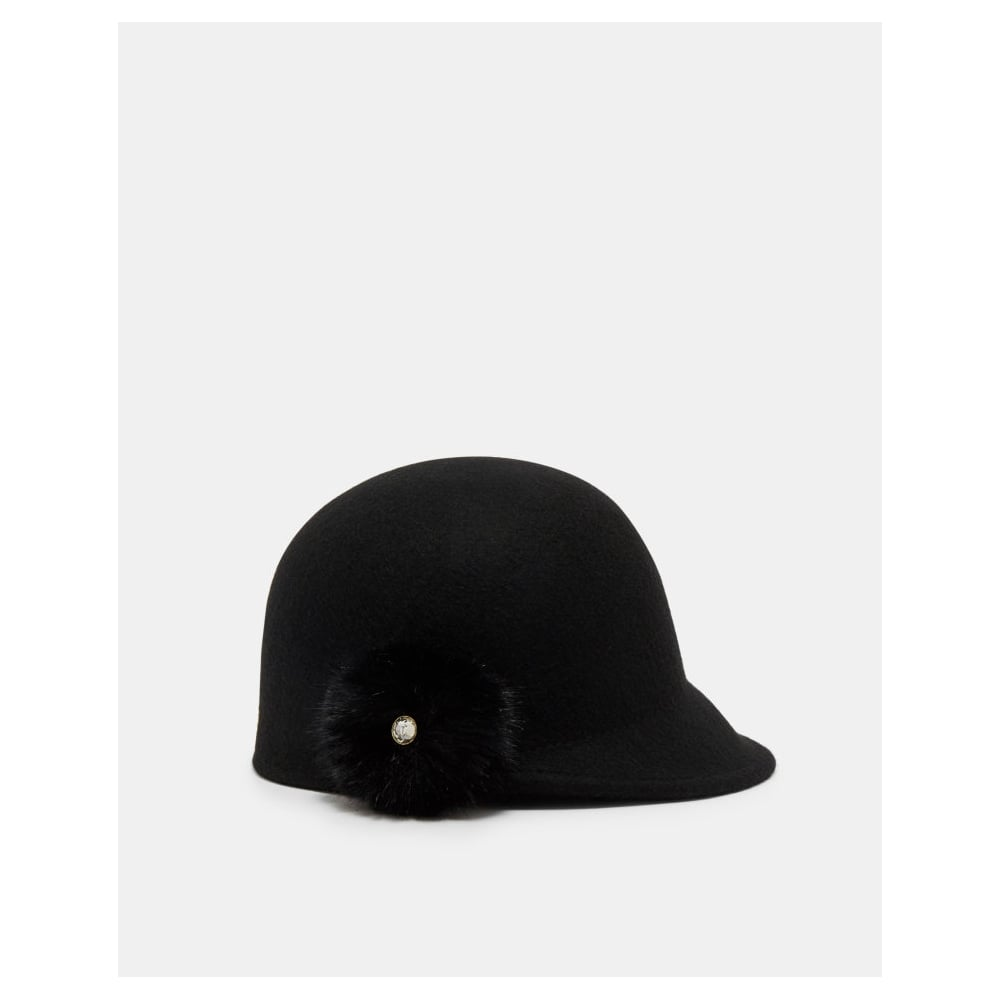 TED BAKER ADABEL faux fur pom pom felt hat - Ladies from Sandersons ... 920d6e531ab
