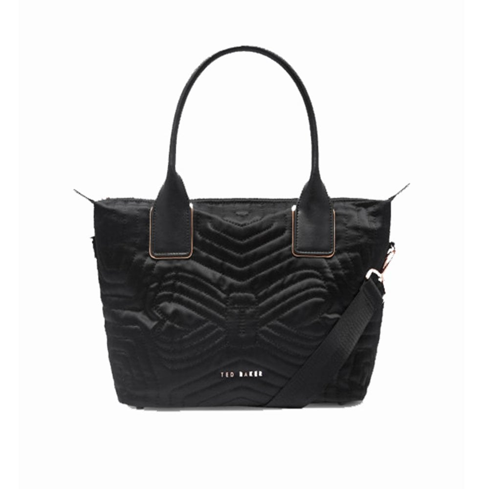 1a7687a4fe5 TED BAKER AKEBIA quilted bow small nylon tote