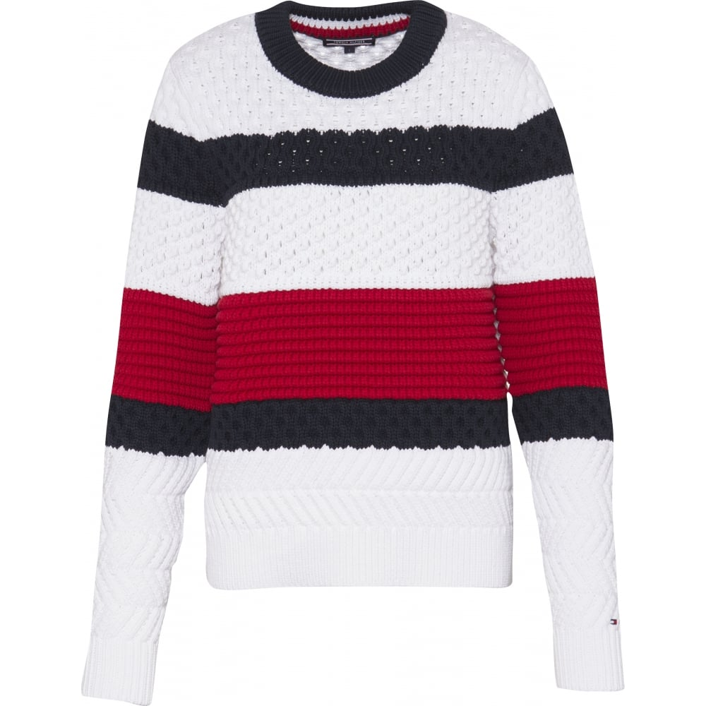 184804169f TOMMY HILFIGER ALEXIA block sweater jumper - Ladies from Sandersons ...