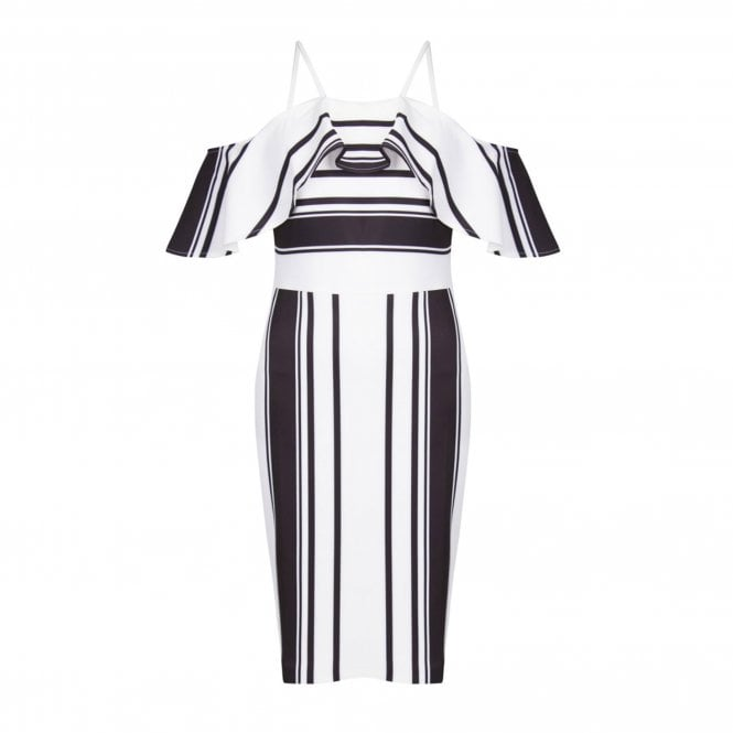 FOREVER UNIQUE ASTRA Striped Dress