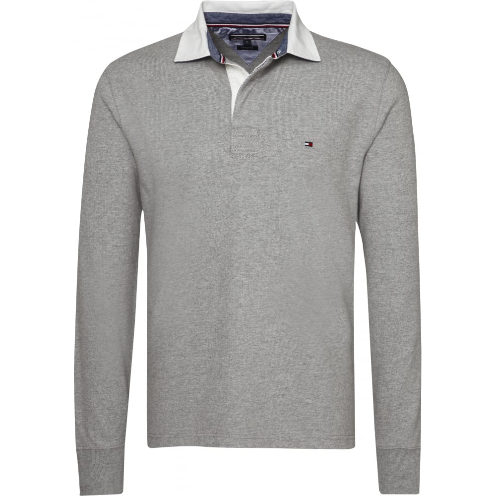 80998095b2e TOMMY HILFIGER AUSTIN RUGBY LONG SLEEVE TOP