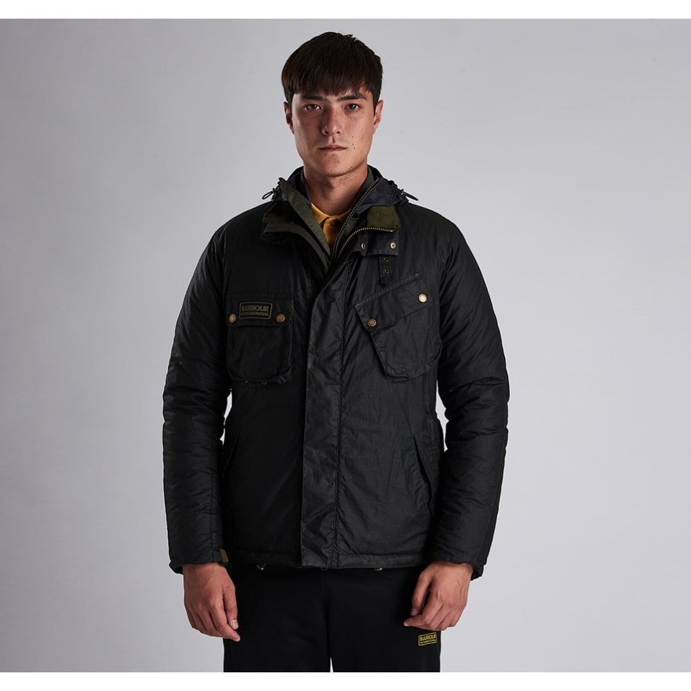 e61022c8fd B.Intl Lever Waxed Cotton Jacket Sage Green