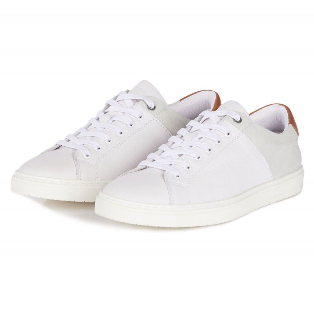Barbour Ariel Trainers White