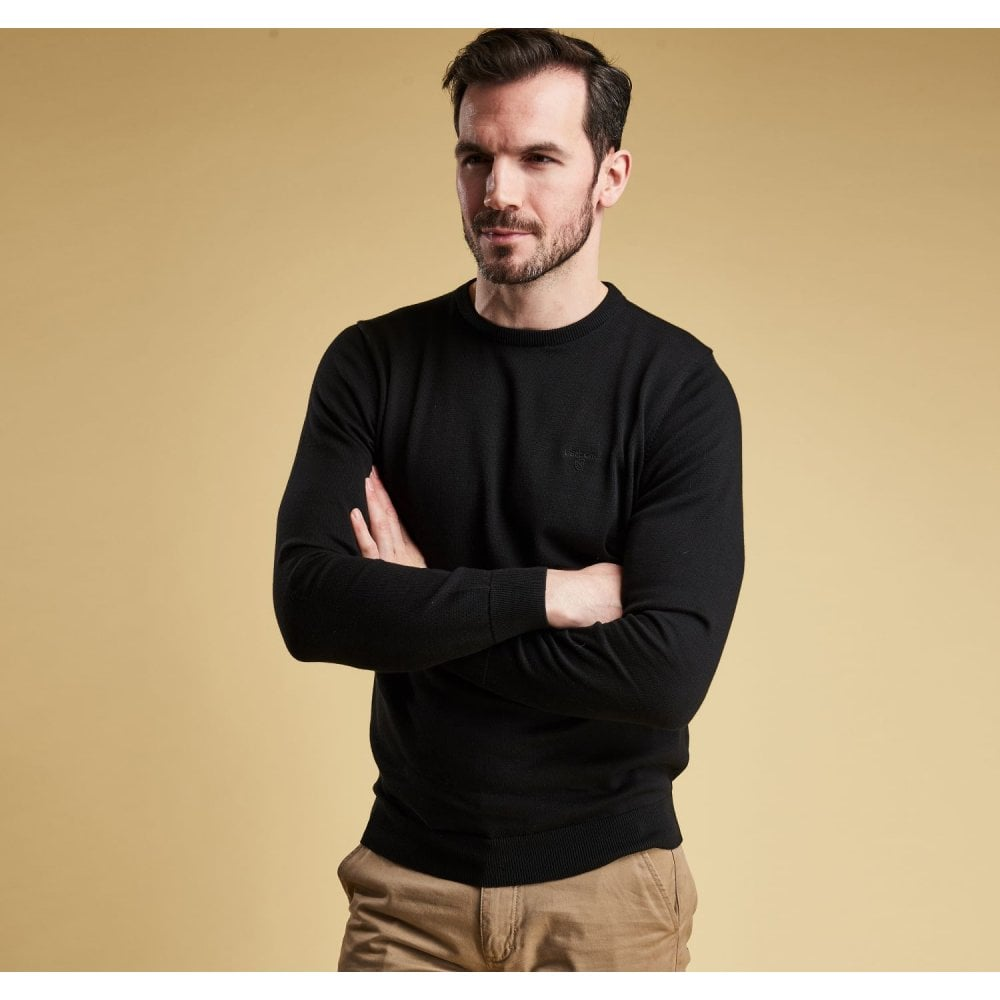 how to choose special promotion save up to 60% BARBOUR Barbour Pima Crew Neck Jumper Black