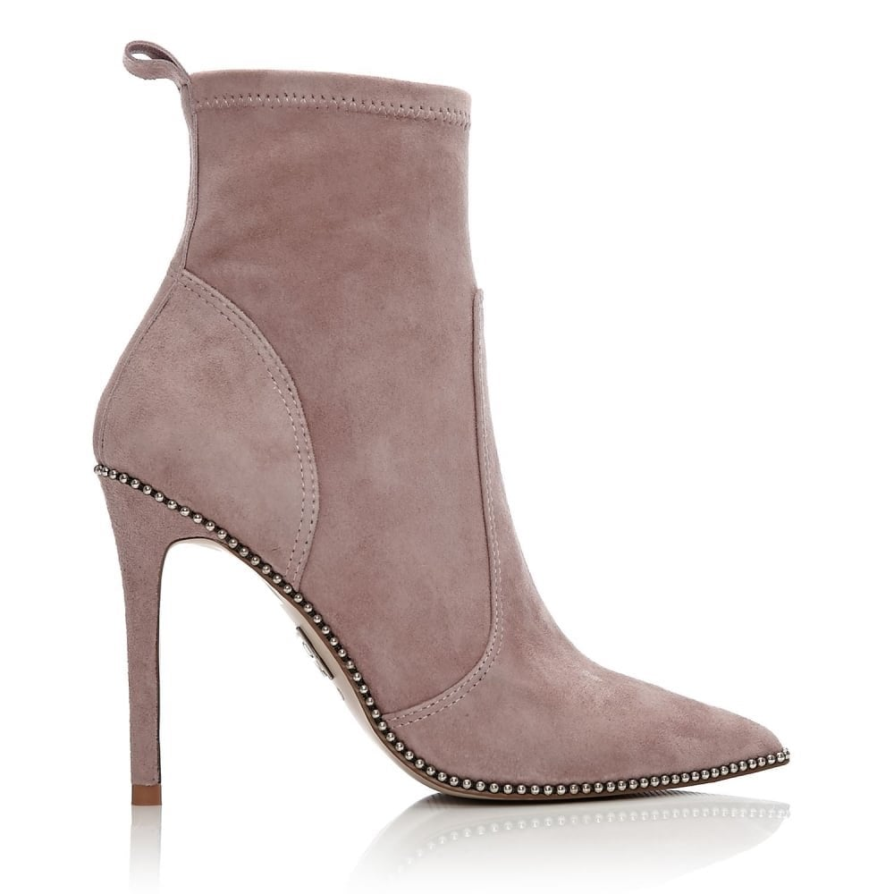 MODA IN PELLE Belista Pointed Toe Studded Ankle Boot Taupe - Ladies ... 9b89d05b2b8d