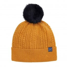 191baa6800161 BOBBLEHAT Cable Hat Brown