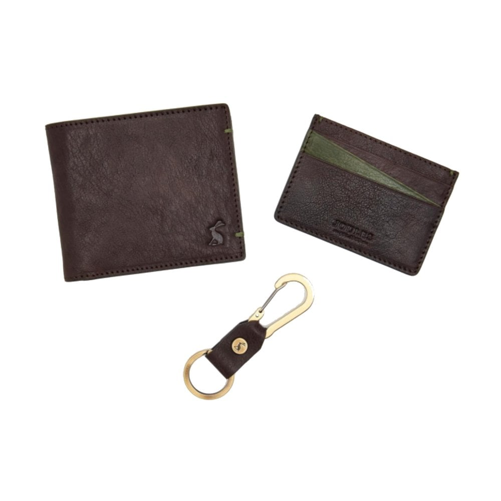 brigham leather card holder and keyring brown - Card Holder With Keyring