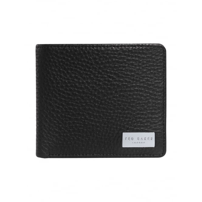 TED BAKER BROOCE-Leather bifold with zip pocket