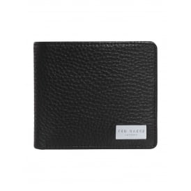 BROOCE-Leather bifold with zip pocket