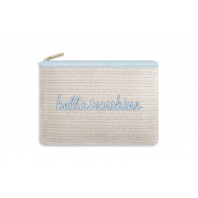 KATIE LOXTON COCO CLUTCH - LARGE STRAW CLUTCH - hello sunshine