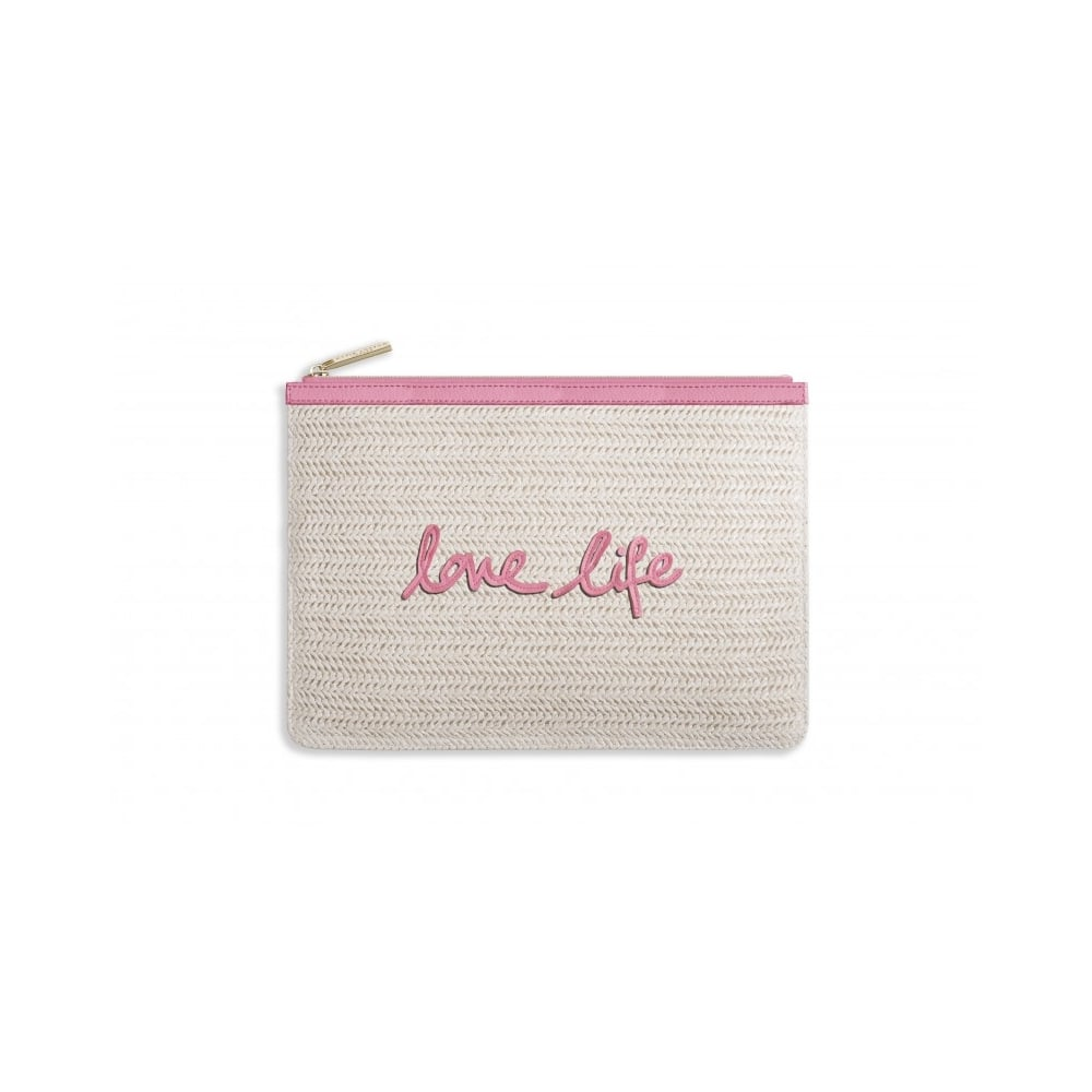 KATIE LOXTON COCO CLUTCH - LARGE STRAW CLUTCH - love life - Ladies ... 6799e71f8cdf7