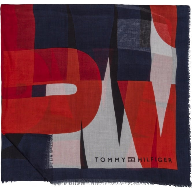 TOMMY HILFIGER Colour block scarf