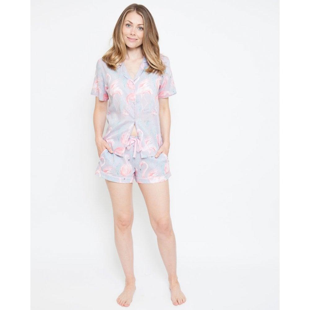 foto ufficiali fb1e0 54c77 CYBERJAMMIES Cyberjammies Zara Flamingo Print Pyjama Shorts Pink