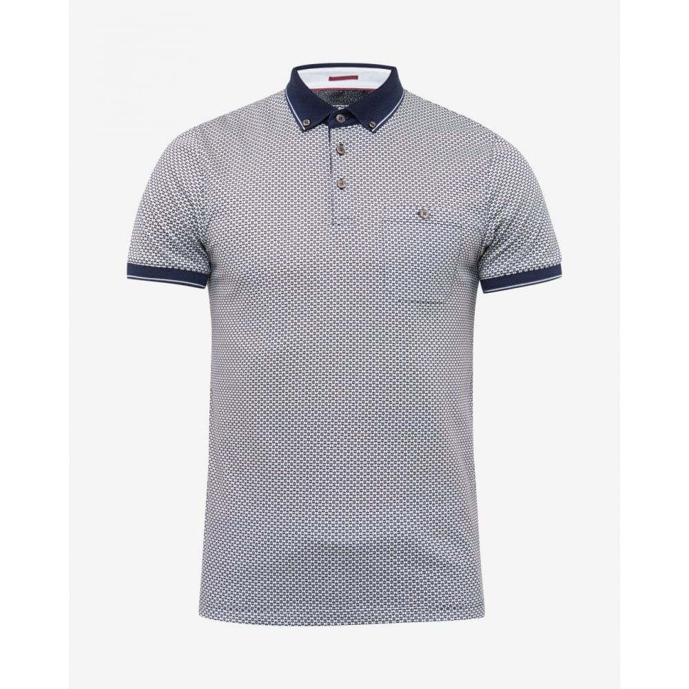 6011b1578 TED BAKER ENDERS short sleeve all over print polo t-shirt - Mens ...