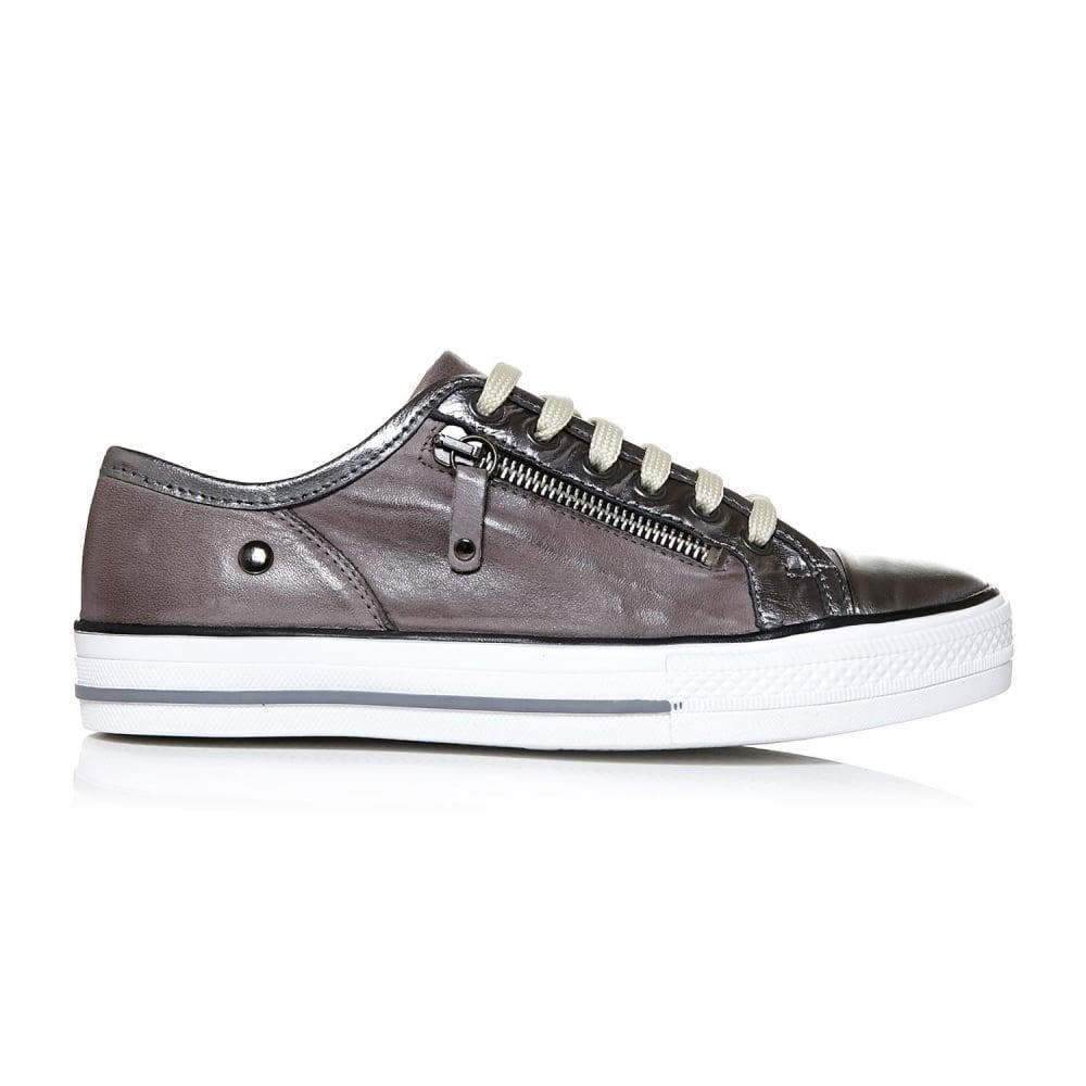 FIANNTAS leather trainer grey