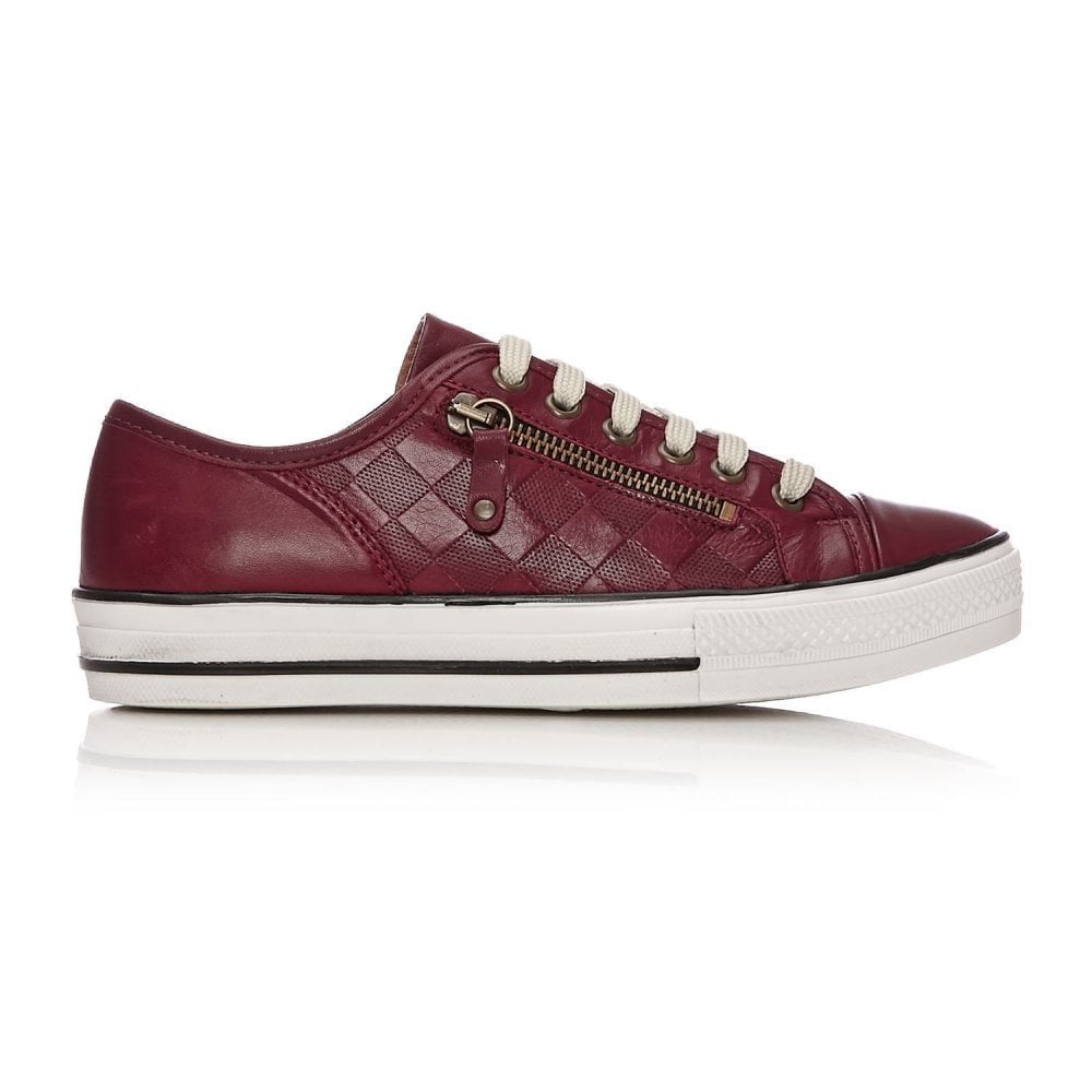 b29350e8ca67 MODA IN PELLE Fiarli Leather Trainers Burgundy - Ladies from ...