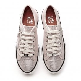 FIARLI leather trainers rose gold