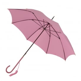 SLIM LEATHER CROOK HANDLE UMBRELLA