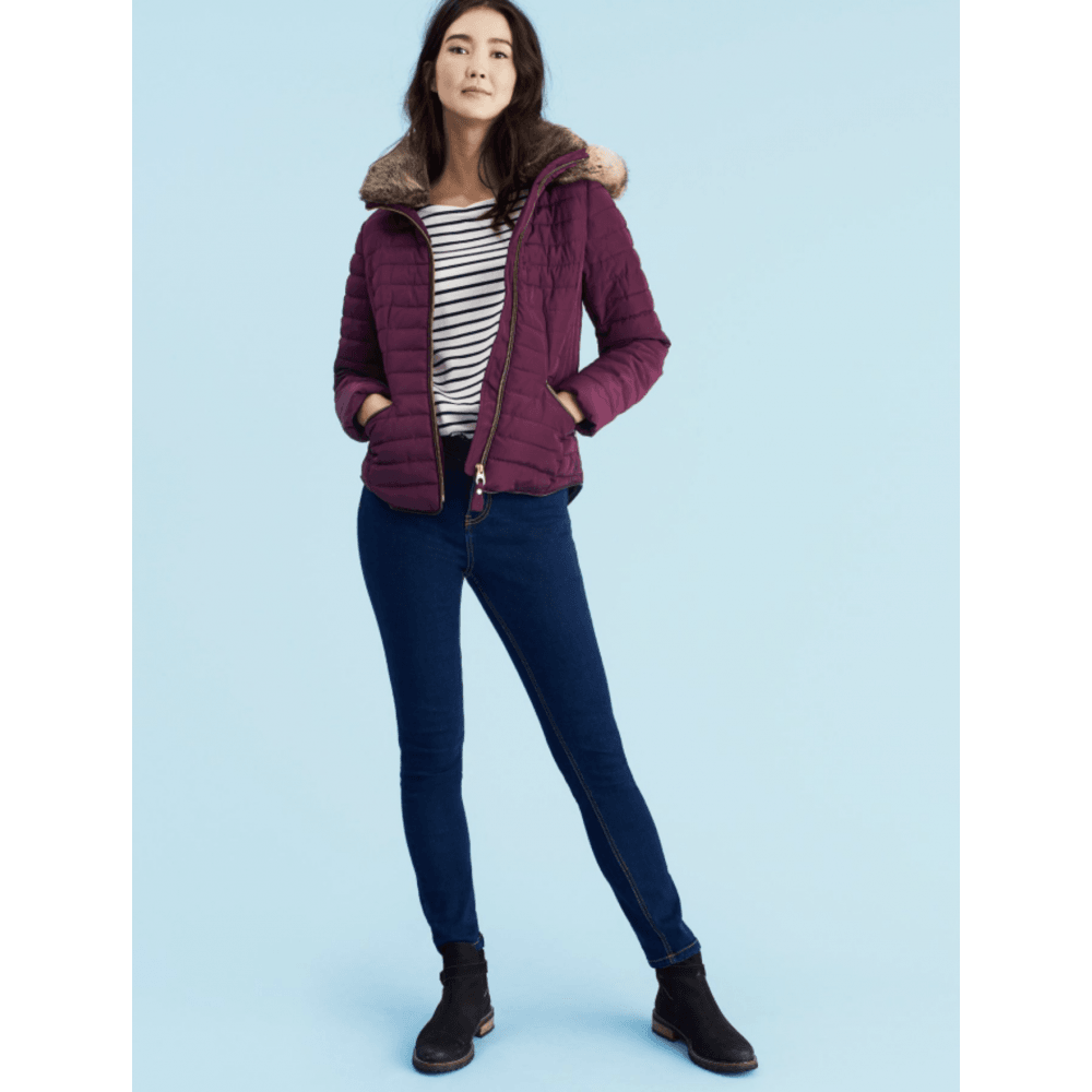 exclusive deals look good shoes sale new lifestyle JOULES GOSLING Padded Jacket Burgundy - Ladies from Sandersons ...