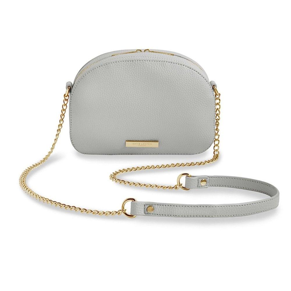KATIE LOXTON Half Moon Bag - Grey - Ladies from Sandersons Boutique UK 02591e1f8c9e1
