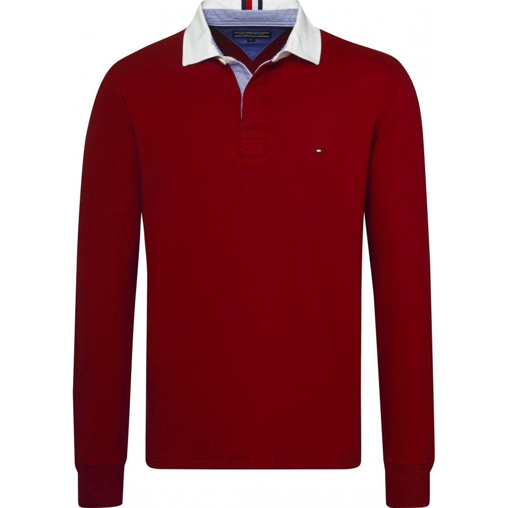 dfbd086e018 TOMMY HILFIGER Iconic Rugby Shirt Rhubarb