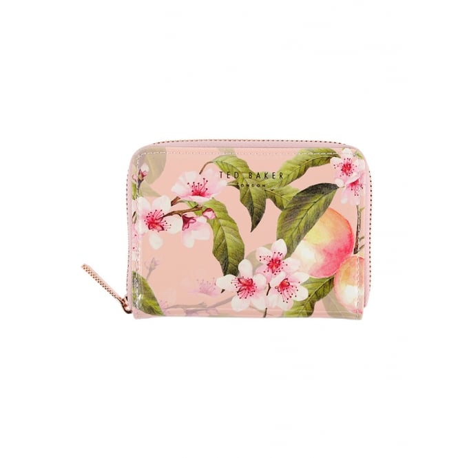 TED BAKER IVY-Peach blossom sml zip purse