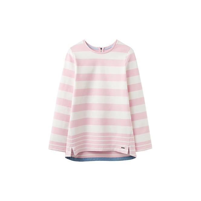 JOULES Clemence sweat top cool pink stripe