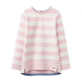 Clemence sweat top cool pink stripe