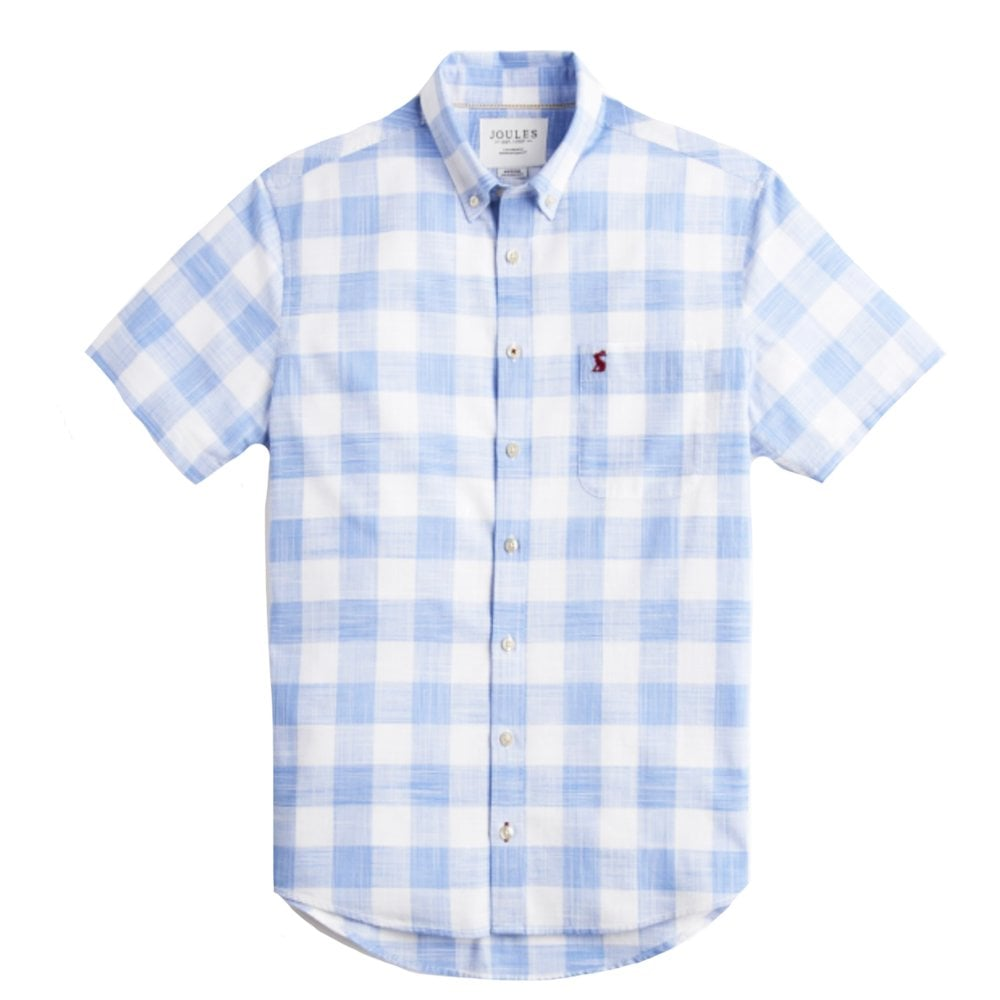 d892f1a0 Joules Wilson Classic Fit Check Shirt Blue