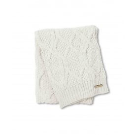 Cable knit scarf - cream