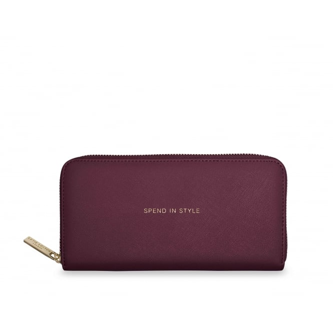 KATIE LOXTON Large purse - Spend in style - Burgundy