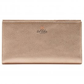 KAYY bow detail rose gold travel wallet