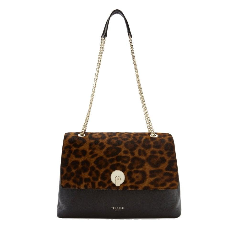 71305d4dac5 LAILLA Leopard Circle Lock Shldr Bag