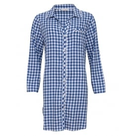 Lara Check Turn Up Sleeve Nightshirt