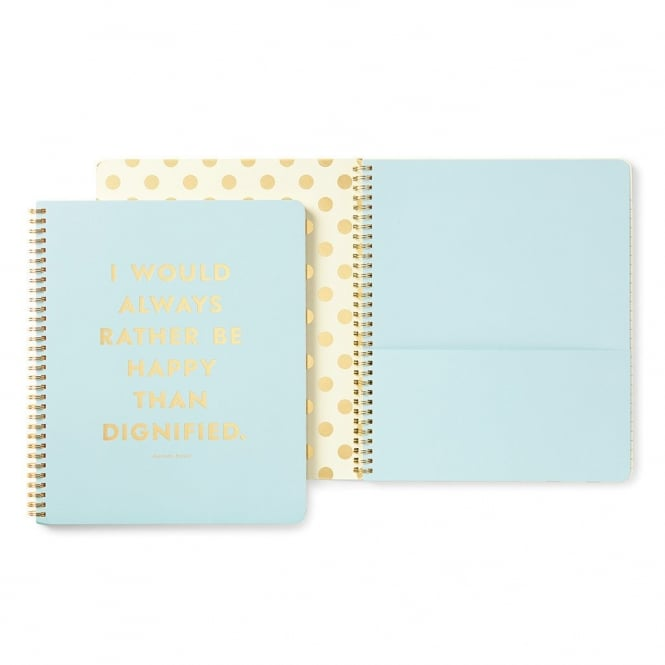 KATE SPADE Large Spiral Notebook Be Happy