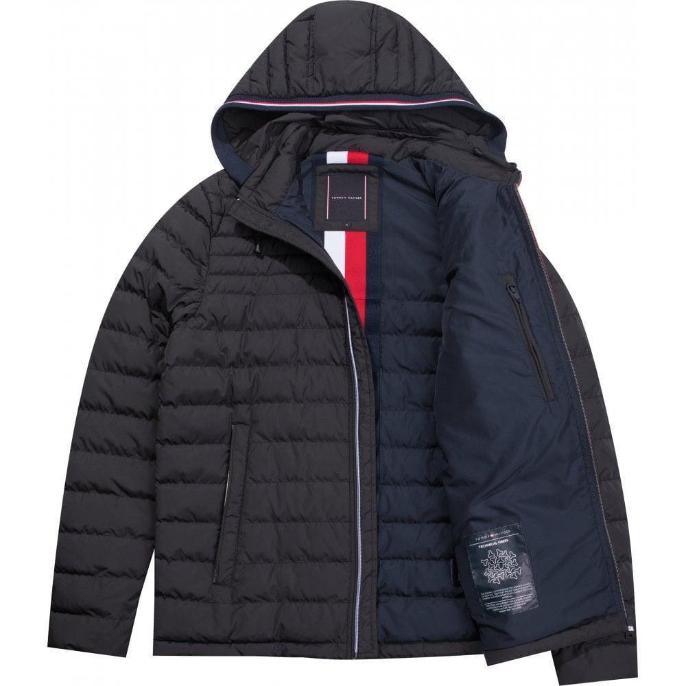 ca85214b3b041 TOMMY HILFIGER Lathan Detachable Hood Jacket Black - Mens from ...