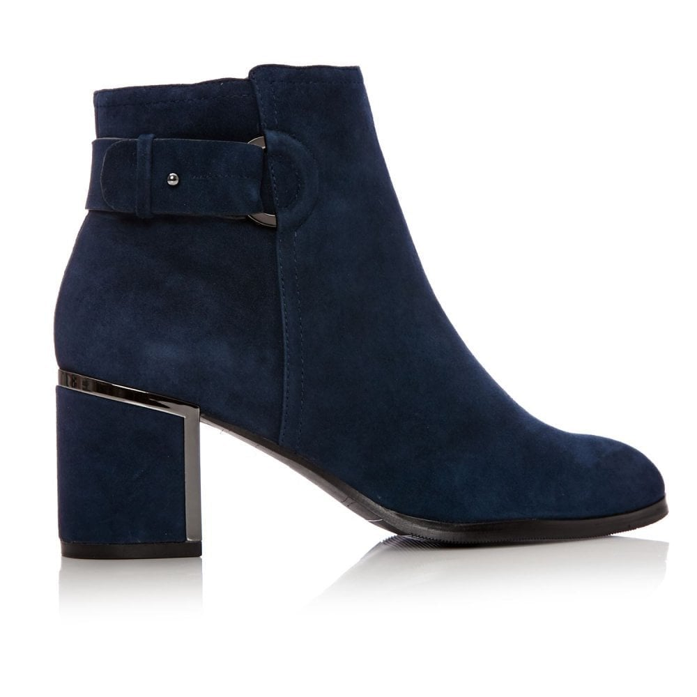 MODA IN PELLE Laurista Covered Ring Block Ankle Boot Navy - Ladies ... 20e8f8d6379f