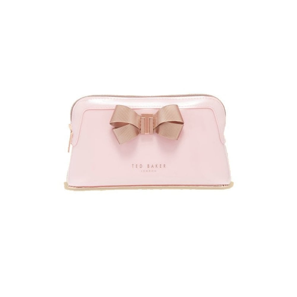 5703e558a934d4 TED BAKER LEZLIE-Bow makeup bag Pink - Beauty from Sandersons ...