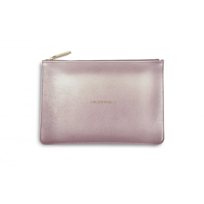 KATIE LOXTON LIVE LOVE SPARKLE - THE PERFECT POUCH -metalic pink