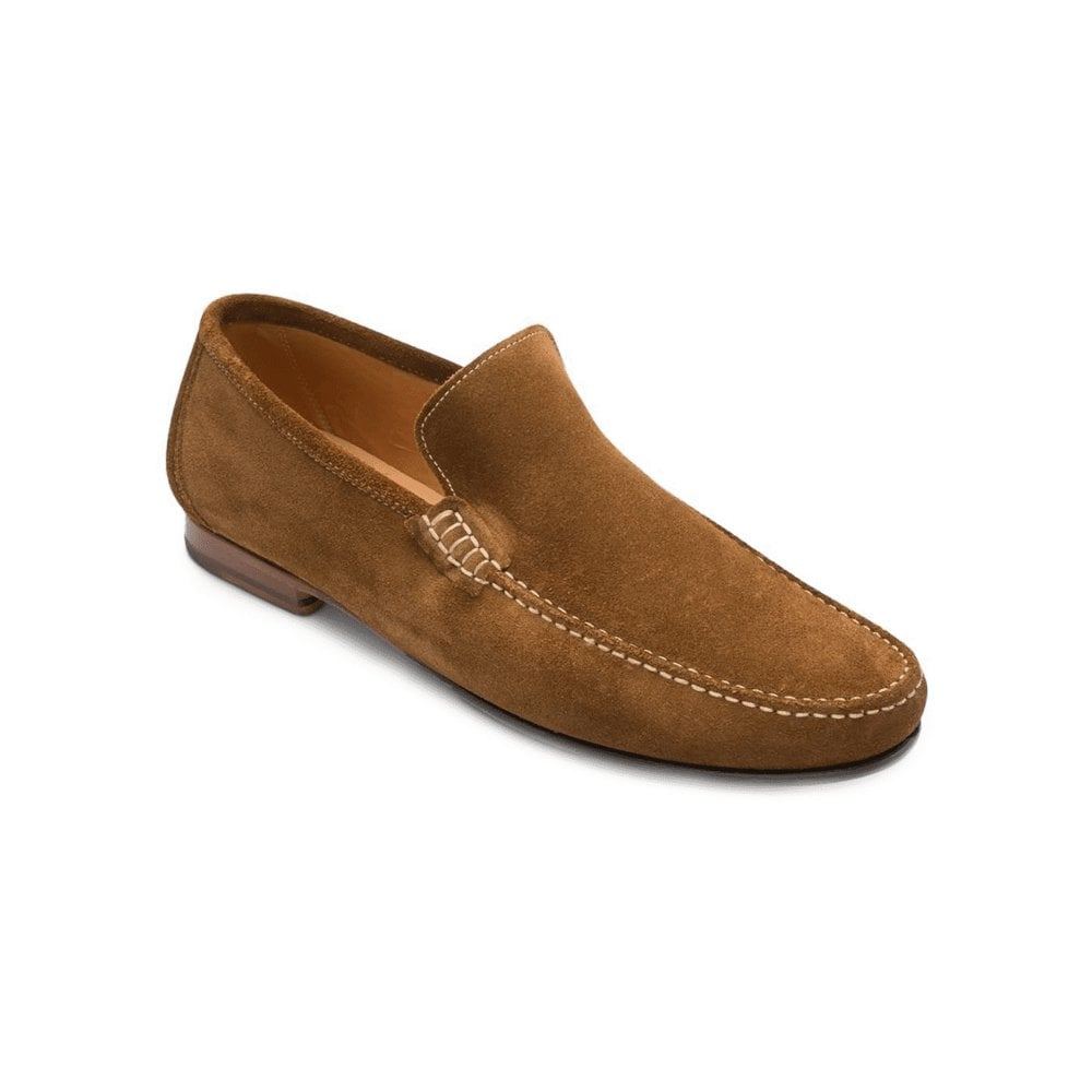 LOAKE Nicholson Suede Loafers Brown
