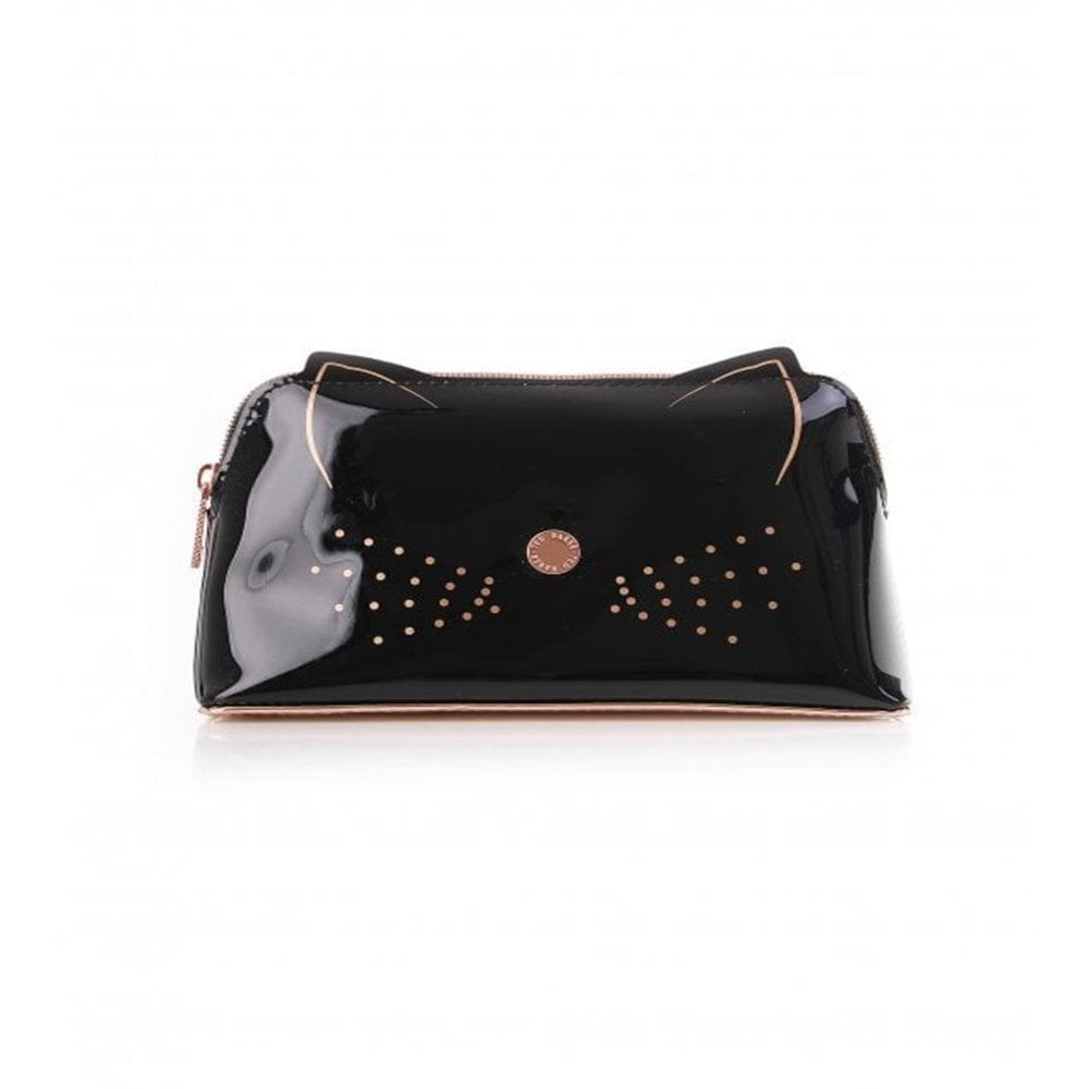 ed1f3c6e6522 TED BAKER MACCOA Cat Makeup Bag Black - Beauty from Sandersons ...