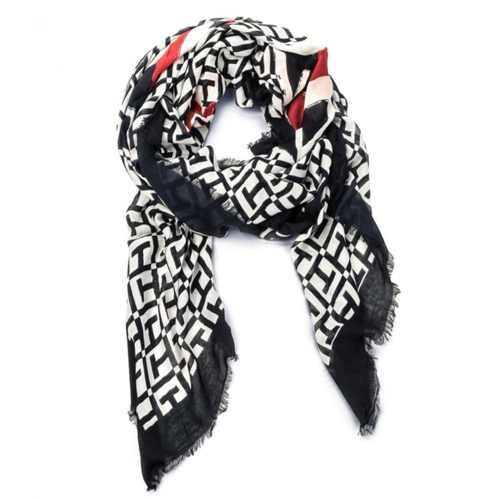 TOMMY HILFIGER Mascot Race Square Scarf - Ladies from Sandersons ... 5747a4122a1
