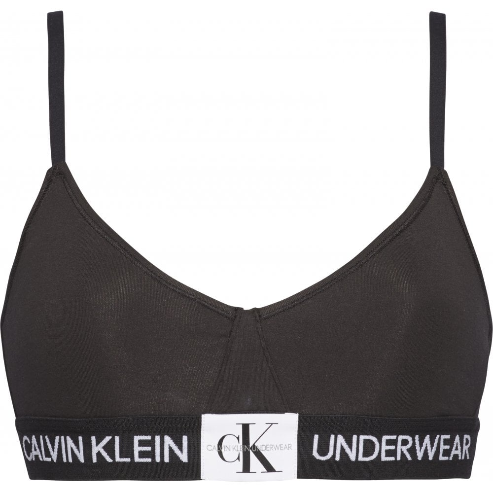 94b1bb46a0 CALVIN KLEIN Monogram Unlined Triangle Black - Ladies from ...