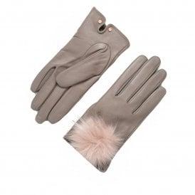 cd20aeaca0adb NACY Pom Leather Glove Grey SALE · TED BAKER ...
