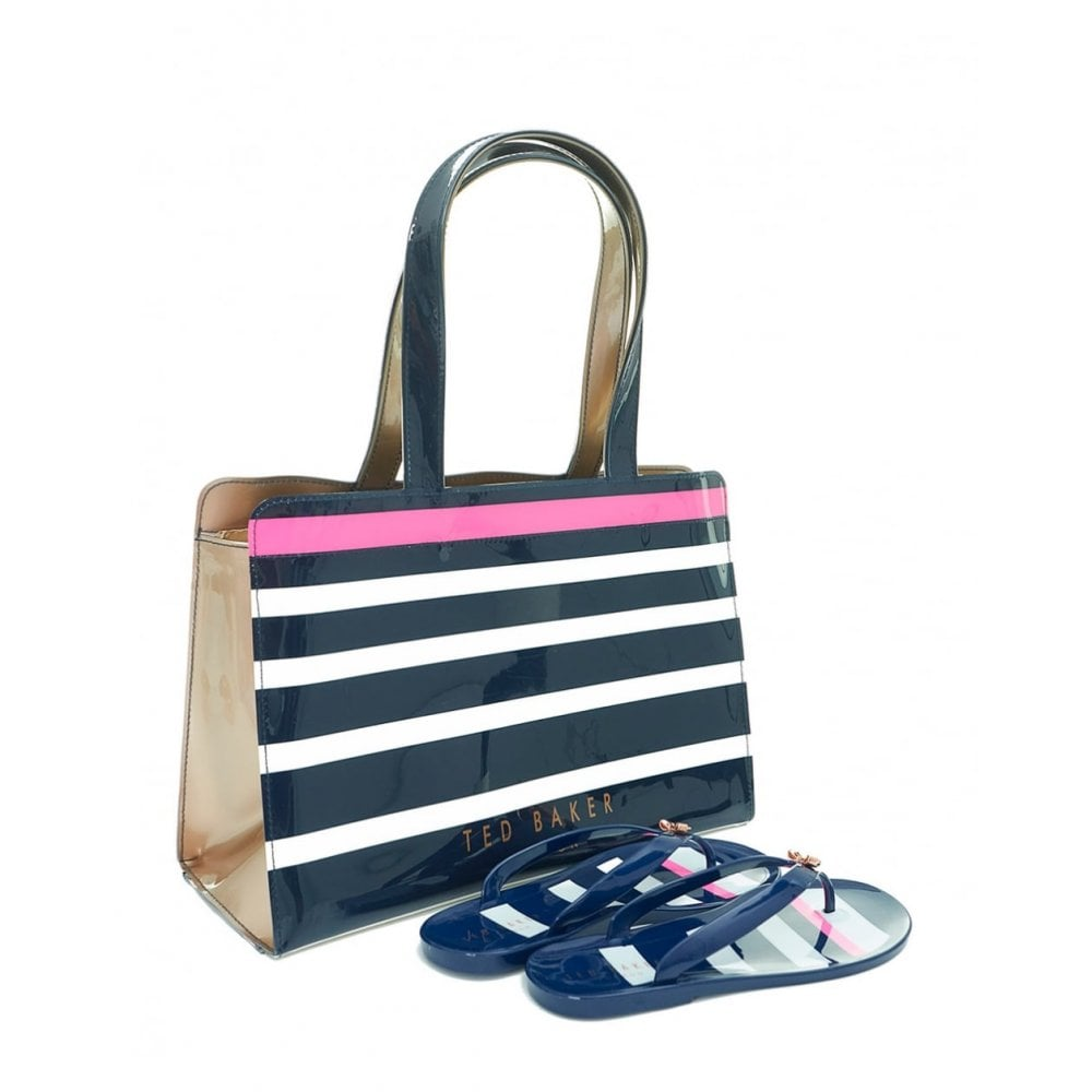 wide range 100% genuine amazing selection TED BAKER NED stripe icon bag and flip flop set - Ladies from ...