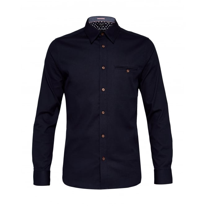 TED BAKER OBIDOS long sleeve textured shirt
