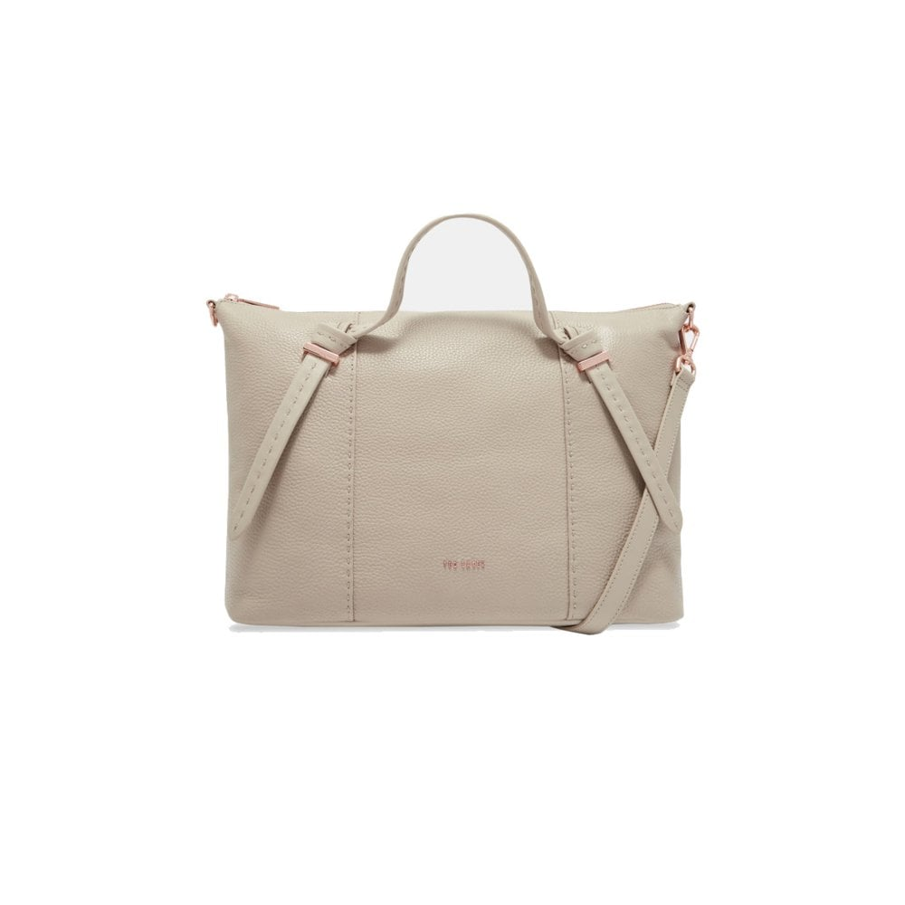 01add92d0fa7d TED BAKER OLMIA Knotted Handle Small Tote Taupe - Ladies from ...