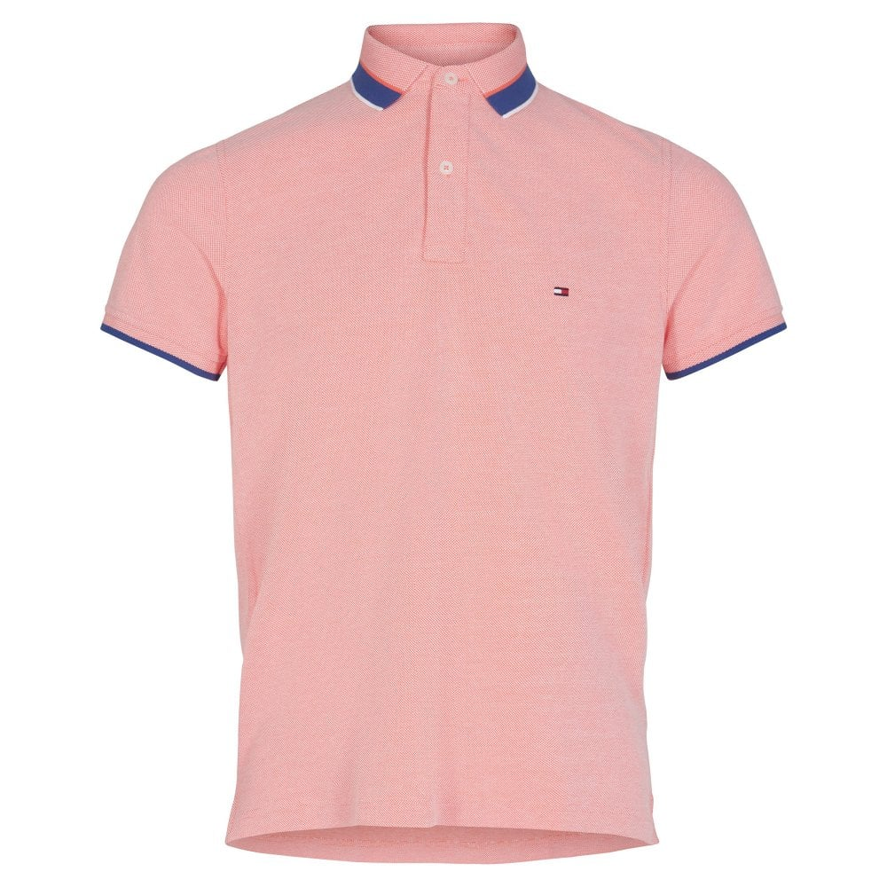 c3d24d97 OXFORD TIPPED SLIM POLO