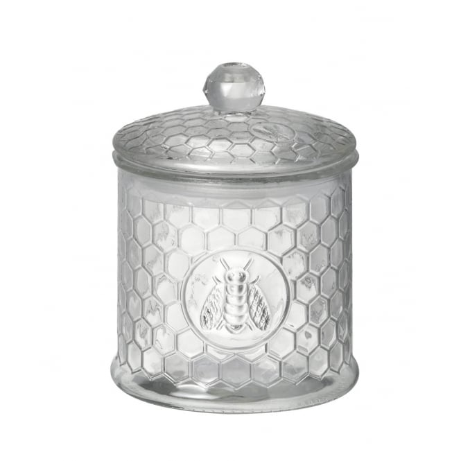 PARLANE GLASS JAR WITH BEE DETAIL